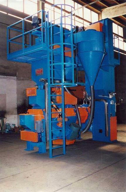 Дробеметная установка для обработки прутков и проволоки