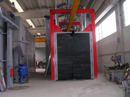 Туннельная дробеметная установка